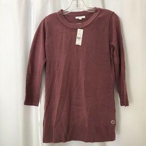 NY&C Mauve 3/4 Sleeve Sweater